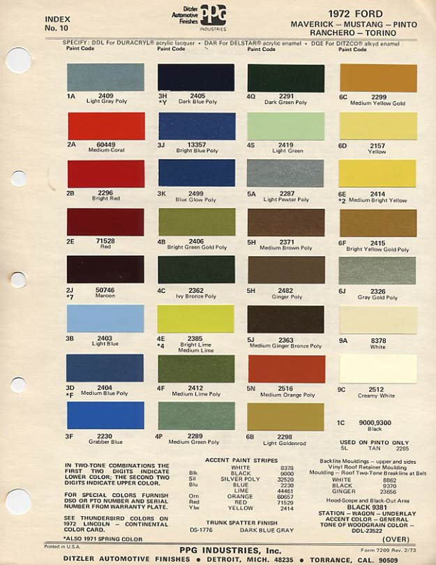 Those Wild Paint Colors  Ford Pit Stop Blog