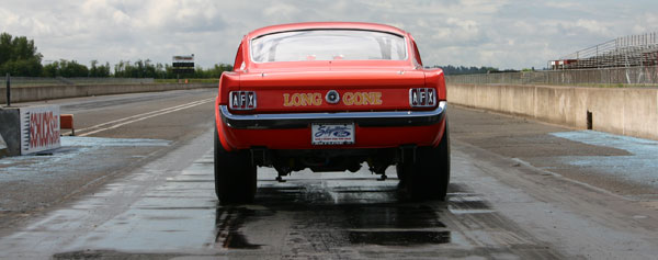 Long-Gone-Mustang-at-the-drag-strip