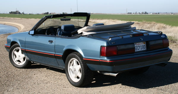 1987-Mustang-LX-rear-view-